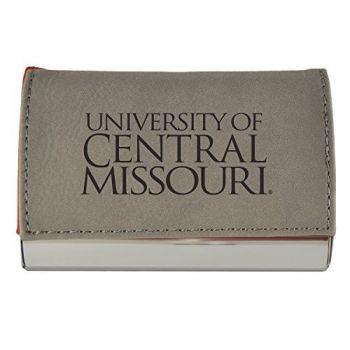 Velour Business Cardholder-University of Central Missouri-Grey