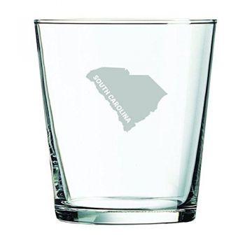 13 oz Cocktail Glass - South Carolina State Outline - South Carolina State Outline