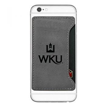 Western Kentucky University-Cell Phone Card Holder-Grey