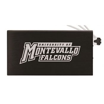 8000 mAh Portable Cell Phone Charger-University of Montevallo-Black