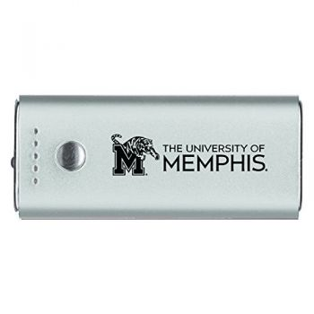 University of Memphis-Portable Cell Phone 5200 mAh Power Bank Charger -Silver