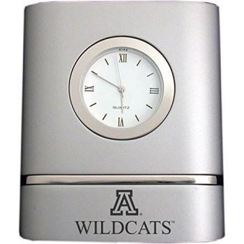 Arizona Wildcats- Two-Toned Desk Clock -Silver