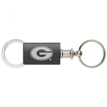 University of Georgia - Anodized Aluminum Valet Key Tag - Black