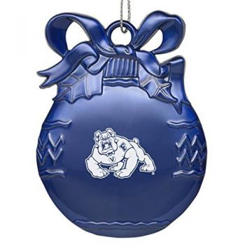 Fresno State University - Pewter Christmas Tree Ornament - Blue