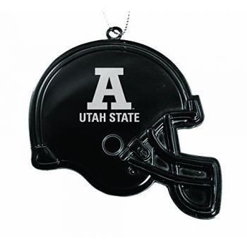 Utah State University - Christmas Holiday Football Helmet Ornament - Black