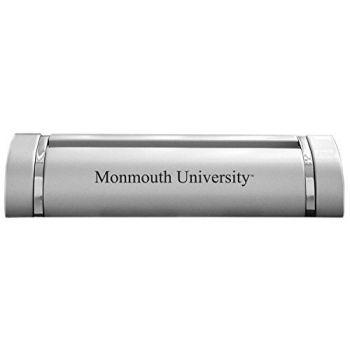 Monmouth University-Desk Business Card Holder -Silver