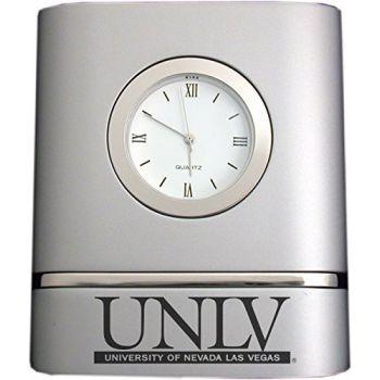 University of Nevada, Las Vegas- Two-Toned Desk Clock -Silver