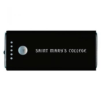 Saint Mary's College of California -Portable Cell Phone 5200 mAh Power Bank Charger -Black
