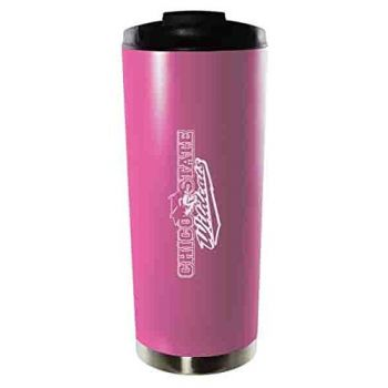 California State University, Chico-16oz. Stainless Steel Vacuum Insulated Travel Mug Tumbler-Pink