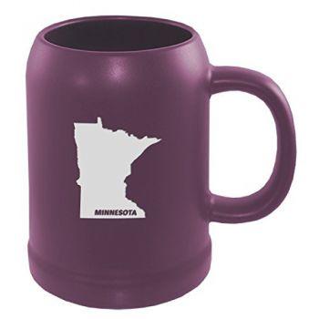 22 oz Ceramic Stein Coffee Mug - Minnesota State Outline - Minnesota State Outline