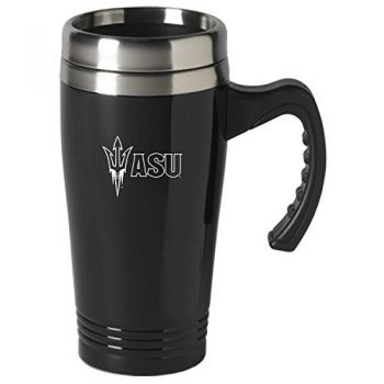 ASU Sun Devils-16 oz. Stainless Steel Mug-Black