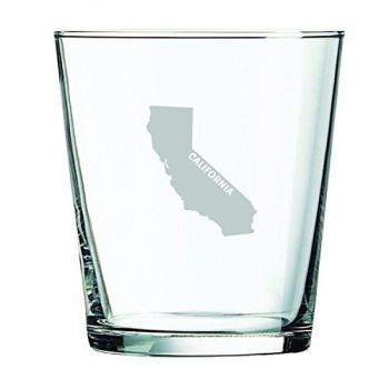 13 oz Cocktail Glass - California State Outline - California State Outline