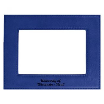 University of Wisconsin-Stout-Velour Picture Frame 4x6-Blue