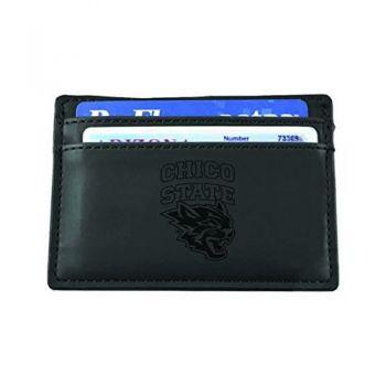 California State University, Chico-European Money Clip Wallet-Black