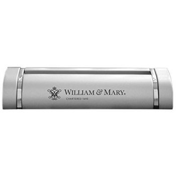 College of William & Mary-Desk Business Card Holder -Silver