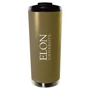 Elon University-16oz. Stainless Steel Vacuum Insulated Travel Mug Tumbler-Gold