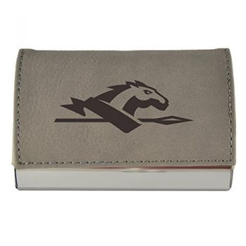 Velour Business Cardholder-Longwood University-Grey