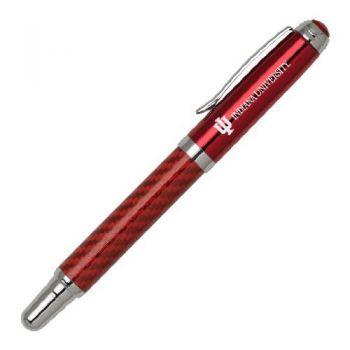 Indiana University - Carbon Fiber Rollerball Pen - Red