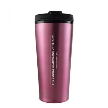 George Washington University -16 oz. Travel Mug Tumbler-Pink