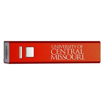 University of Central Missouri - Portable Cell Phone 2600 mAh Power Bank Charger - Red
