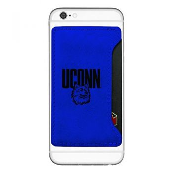 University of Connecticut-Cell Phone Card Holder-Blue