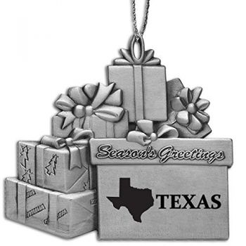 Texas-State Outline-Pewter Gift Package Ornament-Silver