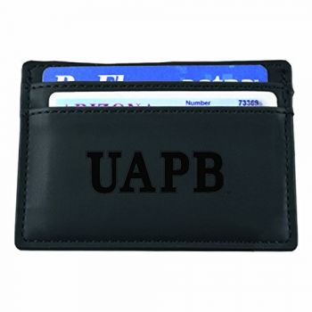 University of Arkansas at Pine Bluff-European Money Clip Wallet-Black
