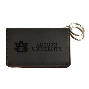 Velour ID Holder-Auburn University-Black