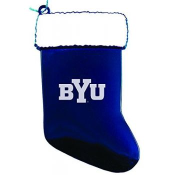 Brigham Young University - Christmas Holiday Stocking Ornament - Blue