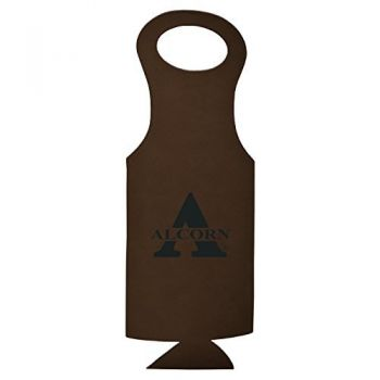 Alcorn State University-Velour Wine Tote-Brown
