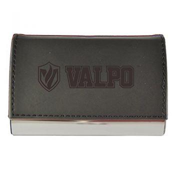 Velour Business Cardholder-Valparaiso University-Black