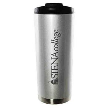 Siena College-16oz. Stainless Steel Vacuum Insulated Travel Mug Tumbler-Silver