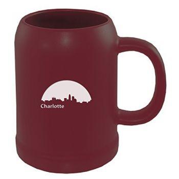 22 oz Ceramic Stein Coffee Mug - Charlotte City Skyline