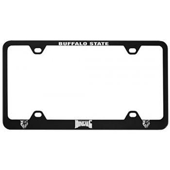 Buffalo State University - The State University of New York -Metal License Plate Frame-Black