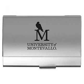 University of Montevallo - Two-Tone Business Card Holder - Silver