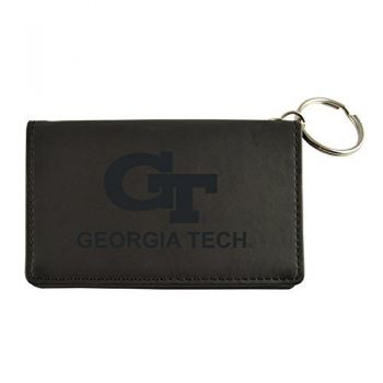 Velour ID Holder-Georgia Institute of Technology-Black