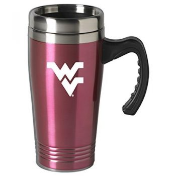 West Virginia University-16 oz. Stainless Steel Mug-Pink