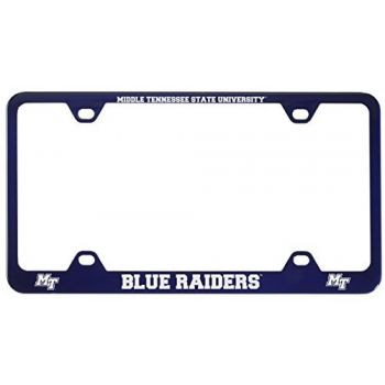 Middle Tennessee State University -Metal License Plate Frame-Blue
