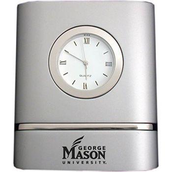 George Mason University- Two-Toned Desk Clock -Silver