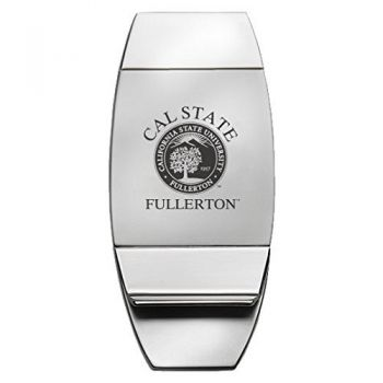 Fullerton College - Two-Toned Money Clip - Silver