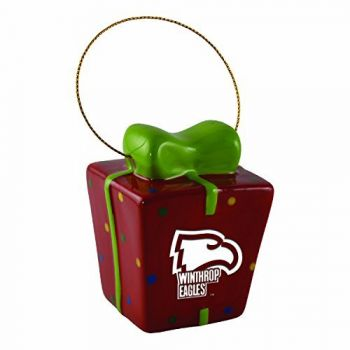 Winthrop University -3D Ceramic Gift Box Ornament