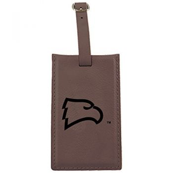 Winthrop University -Leatherette Luggage Tag-Brown