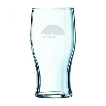 19.5 oz Irish Pint Glass - Fort Worth City Skyline