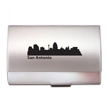 Business Card Holder Case - San Antonio City Skyline
