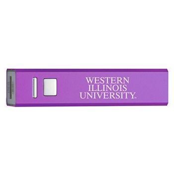 Western Illinois University - Portable Cell Phone 2600 mAh Power Bank Charger - Purple
