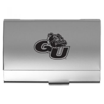 Gonzaga University - Two-Tone Business Card Holder - Silver