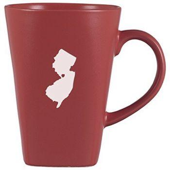 14 oz Square Ceramic Coffee Mug - I Heart New Jersey - I Heart New Jersey