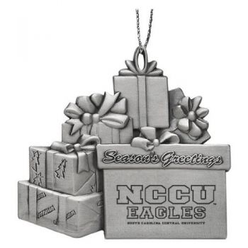 North Carolina Central University - Pewter Gift Package Ornament