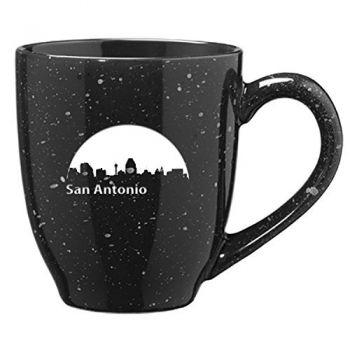 16 oz Ceramic Coffee Mug with Handle - San Antonio City Skyline
