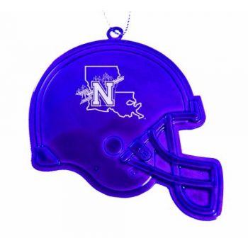 Northwestern State University - Chirstmas Holiday Football Helmet Ornament - Purple